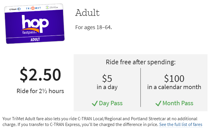 Trimet Adult Pass